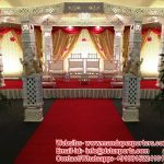 Ivory Fiber Crystal Mandap For Indian Wedding