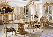 Luxury White Italian Style Dining Table Set