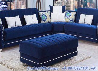 Modern Style Fabric Living Room Sofa Set