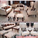 Modern Teak Wood Living Room Sofa Set
