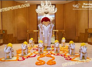 Royal Maharaja Wedding Entrance Elephant Statue