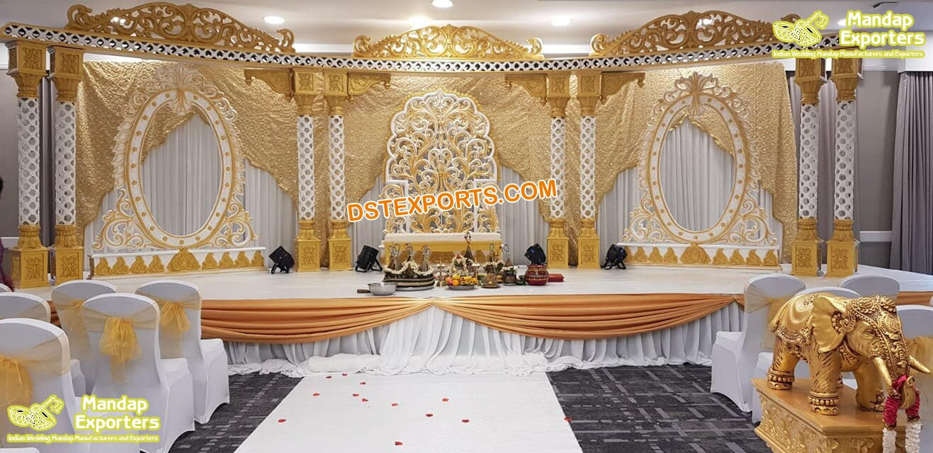 Royal Touch Stage Decor for Indian Weddings – Mandap Exporters