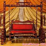 Teak Wood Indian Wedding Sankheda Swing Set