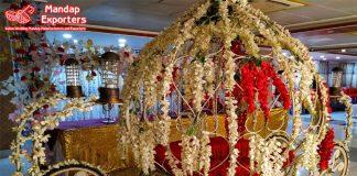 Wedding Couple Entry Floral Cinderella Carriage