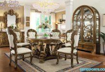Antique Finish Formal Dining Furniture Set