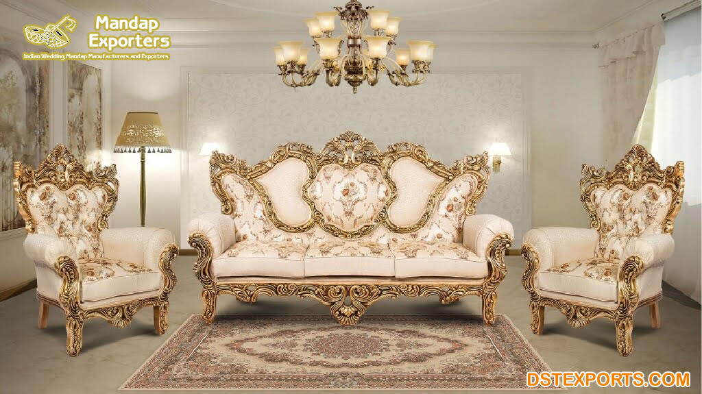 Maharaja Indian Style Classical Sofa, Indian Style Furniture