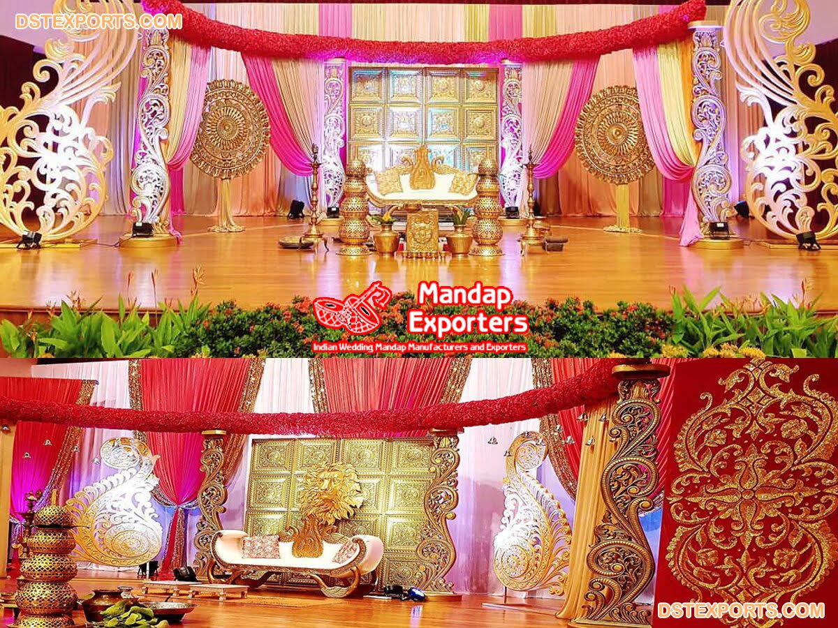 South Indian Wedding Royal Stage Decor – Mandap Exporters
