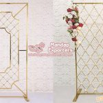 Grand Wedding Stage Candle Backdrop Walls