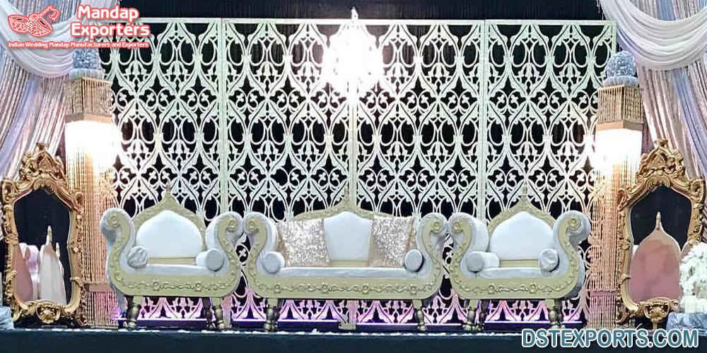 Asian Wedding Laser Cut Back Frame Setup Mandap Exporters