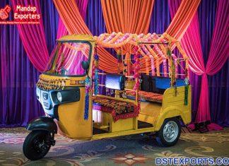 Decorative Auto Rickshaw for Unique Bride Entry