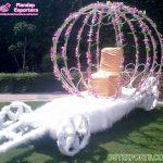 Floral Princess Wedding Bride Entry Carriage