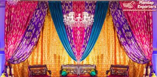 Punjabi Wedding Sangeet Colourful Backdrops