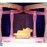 South Asian Wedding Crystal Butterfly Mandap