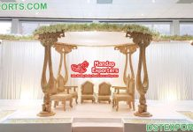 Stunning Wedding Event Wooden Mandaps UK