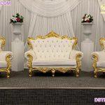Wedding Reception White Throne Sofa Set