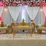 Wedding Stage Baroque Boat Style Sofa Set