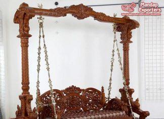 Wooden Handicraft Swing For Home Decor