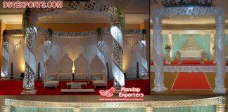 Hot Sale Wedding Crystal Mandap With LED Lights