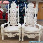 Royal Wedding White King Throne Chairs