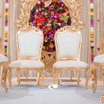 Beautiful White Gold Wedding Mandap Chairs Set