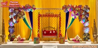 Colourful Mehndi Occasion Stage Props