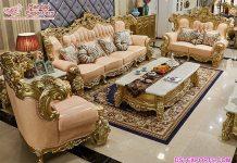 Designer Hand Carved Living Room Sofa Set