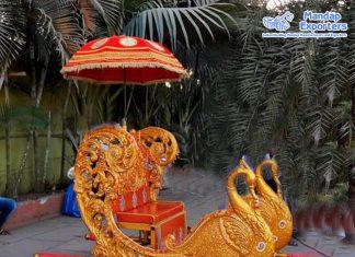 Designer Indian Bride's Entrance Peacock Doli