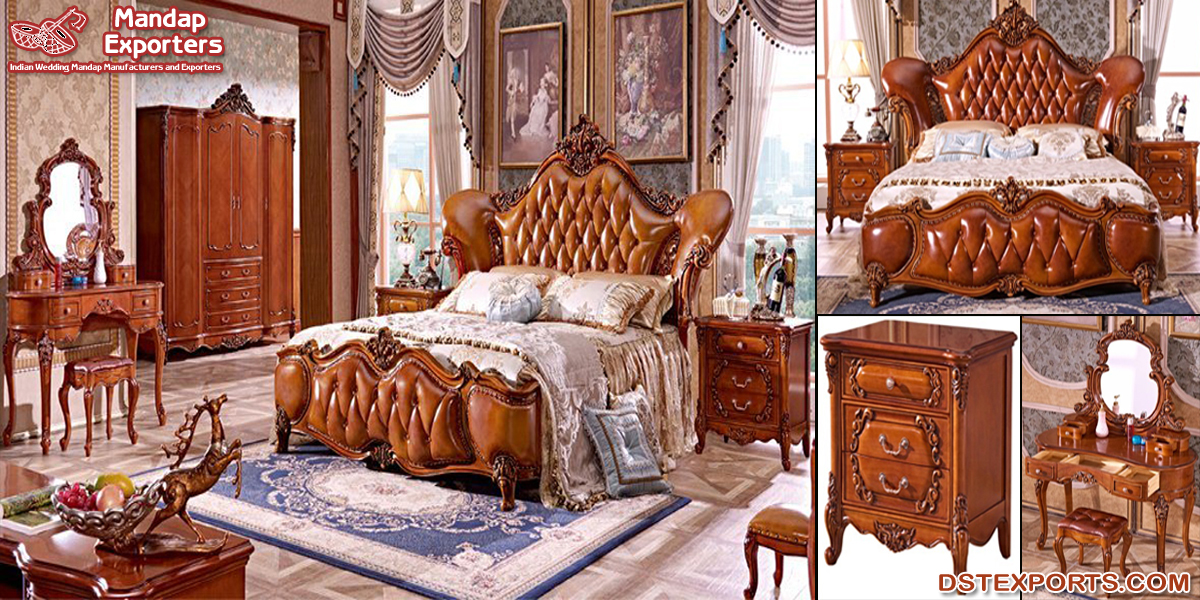 European Classical Bedroom Furniture Set Mandap Exporters