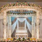 Fantastic Wedding Event Crystal Lotus Mandap