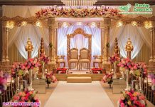 Gujarati Wedding Wooden Look Fiber Mandap
