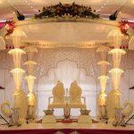 Ivory Wedding Crystal Chain Mandap