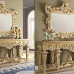 Luxury Console Table and Mirror For Bedroom