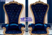 Luxury High Back Wedding Arm Chairs