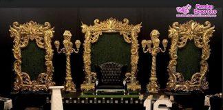 Luxury Wedding Reception Stage Photo Frames