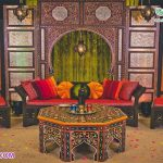 Moroccan Wedding Sangeet Ceremony Furniture Set