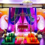Traditional Mehndi Sangeet Night Event Stage