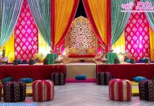 Wedding Sangeet Ceremony Bright & Colorful Backdrops