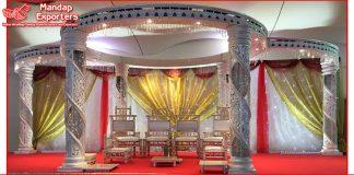 White Indian Crystal Acrylic Wedding Mandap