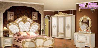 Antique White Queen Bedroom Furniture Set