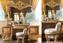 Baroque Gold Leaf Antique Dresser Mirror