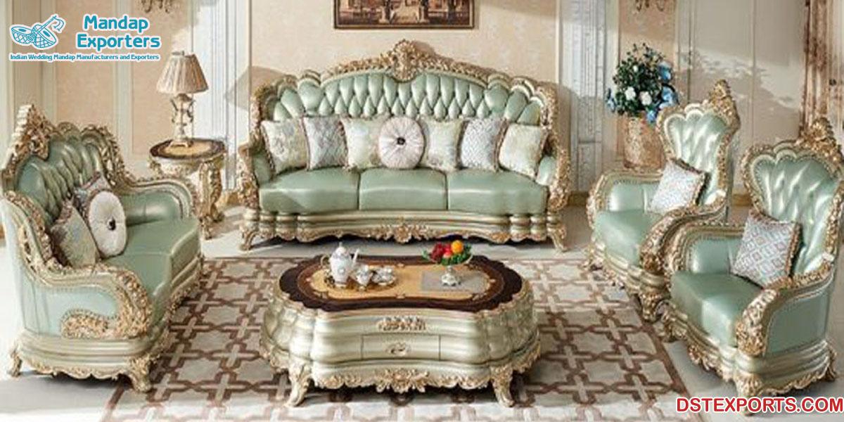 Best Teak Wood Victorian Living Room Furniture Mandap Exporters