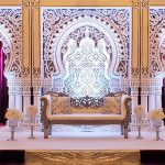 Contemporary Wedding Stage with 3D Frames