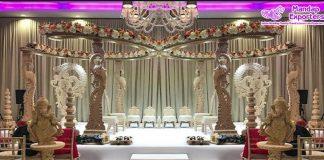 Designer Wooden Carving Indian Wedding Mandap