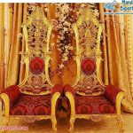 Fancy Bride & Groom Chairs For Wedding Stage