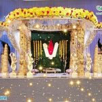 Gorgeous Wedding Ceremony Gold Crystal Mandap