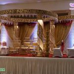 Impressive Wedding Ceremony Golden Crystal Mandap