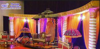 Indian Mehndi Ceremony Decoration Stage Setup