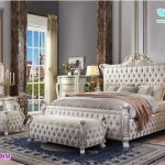 Modern White Finish Solid Wood Bedroom Furniture