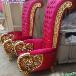 Wedding Ceremony King and Queen Throne Chairs