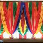 Colorful Mehndi Ceremony Stage Backdrops